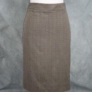 Roz & Ali Womens Brown Pencil Skirt Sz 6 Brown